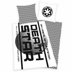 Bavlněné povlečení Star Wars Death Star, 140 x 200 cm, 70 x 90 cm