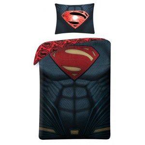 Bavlněné povlečení Superman 4003, 140 x 200 cm, 70 x 90 cm