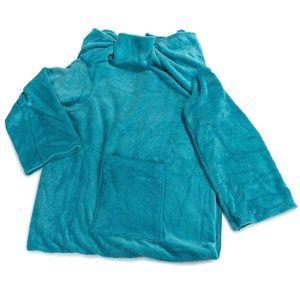 Deka Comfort s rukávy a kapsou modrá, 180 x 135 cm