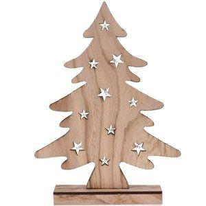 Dekorační vánoční LED stromek, hnědá