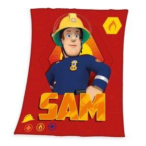 Dětská deka Požárník Sam, 130 x 160 cm
