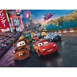 Dětská fototapeta XXL Blesk McQueen a jeho  přátelé 360 x 270 cm, 4 díly