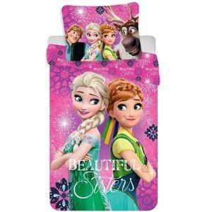 Dětské bavlněné povlečení Ledové království Frozen Beautiful sisters, 140 x 200 cm, 70 x 90 cm