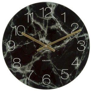 Karlsson 5618BK Designové nástěnné hodiny, 40 cm