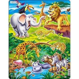 Larsen Puzzle Safari, 18 dílků