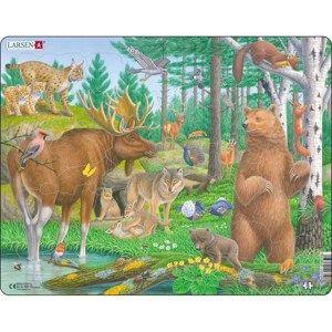 Larsen Puzzle Zvířata v lese, 29 dílků