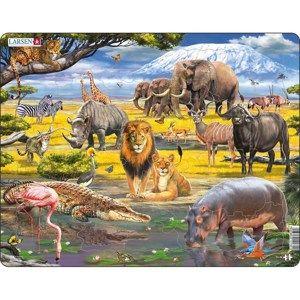 Larsen Puzzle Zvířata v savaně, 43 dílků