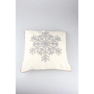 Povlak na polštářek Snowflake bílá, 40 x 40 cm
