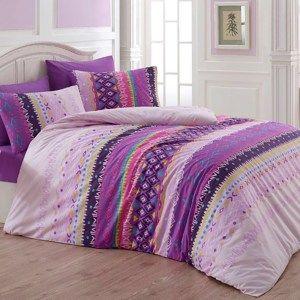 Povlečení Melanie fialová, 220 x 200, 2x 70 x 90