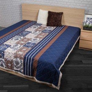 Přehoz na postel Paolina modrá, 240 x 220 cm