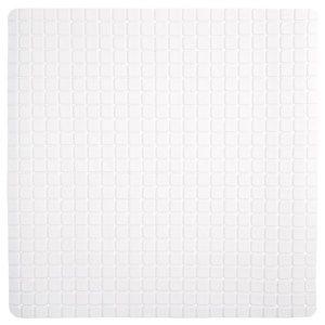 Protiskluzová podložka do koupelny bílá, 55 x 55 cm