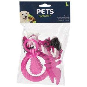Sada hraček pro štěňata růžová, 4 ks