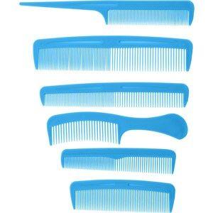 Sada hřebenů Combs modrá, 6 ks