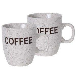Sada kameninových hrnků Cofee 150 ml, 2 ks, sv. šedá
