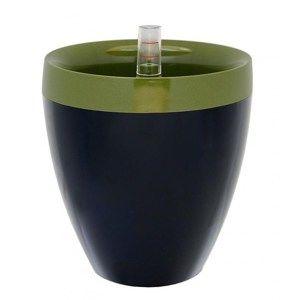 Samozavlažovací květináč Calimera A2 zelená + černá