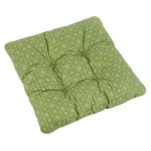 Sedák Adéla Čtverce zelená, 38 x 38 cm
