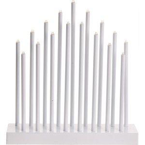 Stolní lampa Pipes bílá, 17 LED