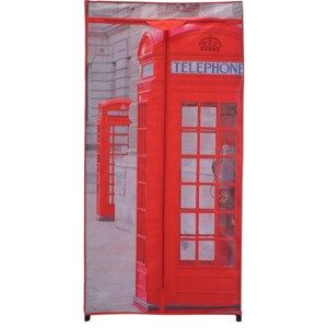 Textilní šatní skříň 75 x 160 x 45 cm, London