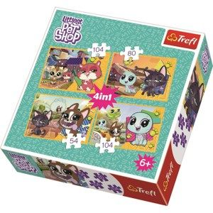 Trefl Puzzle Littlest Pet Shop, 4 ks