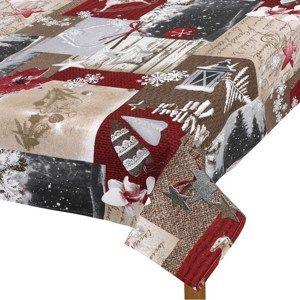 Ubrus Zasněžené Vánoce, 100 x 100 cm