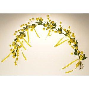 Umělá závěsná větev Mimóza žlutá, 50 cm