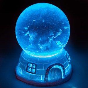 Vánoční LED sněžítko Igloo Nuuk, 11 cm