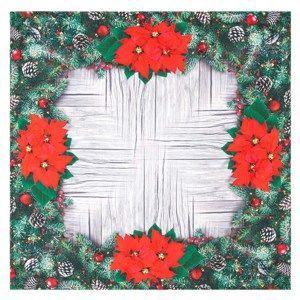 Vánoční ubrus Vánoční růže, 85 x 85 cm