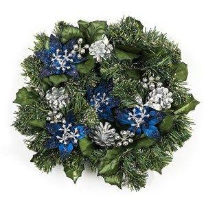 Vánoční věnec modrá