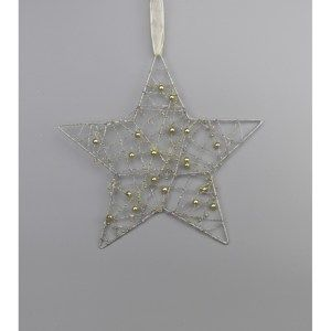Vánoční závěsná hvězda Alambre, zlatá
